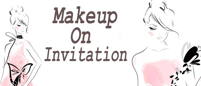 Makeup on invitation