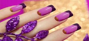 two tone nail design