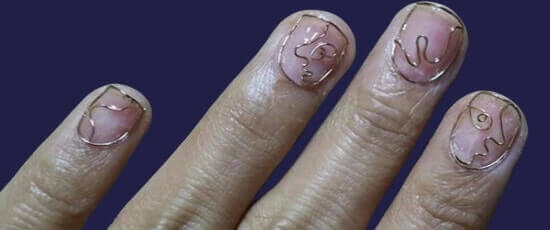 wire work on nails